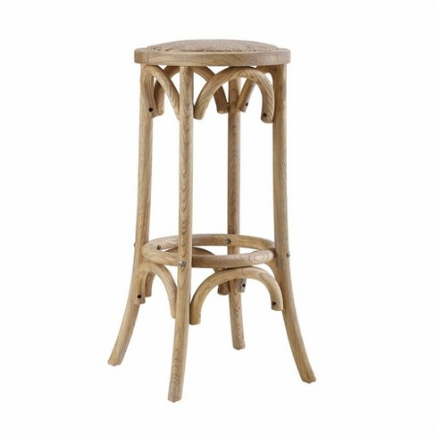 Rae Rattan Seat Backless Bar Stool Brown - Linon - image 1 of 1