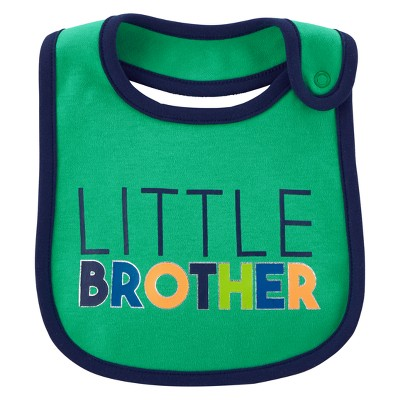 Baby Boys' Little Brother Bib - Just One You® made by carter's Green OSZ
