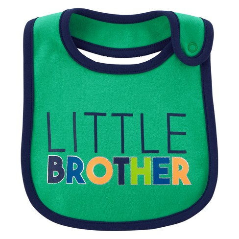 Baby Boys' Little Brother Bib - Just One You® made by carter's Green OSZ - image 1 of 1