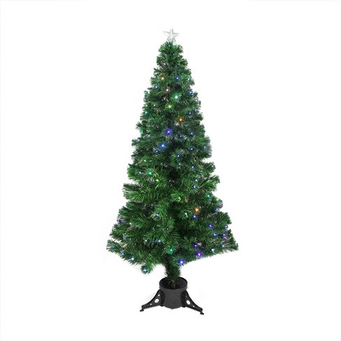 Northlight 6' Prelit Artificial Christmas Tree Full LED Color Changing Fiber Optic with Star Tree Topper - Multicolor Lights - image 1 of 2