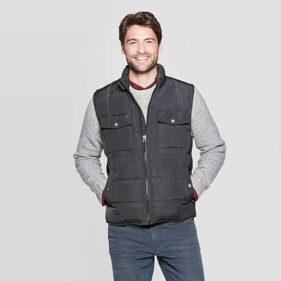 Men's Standard Fit Sleeveless Quilted Midweight Vest   Goodfellow & Co™ by Goodfellow & Co