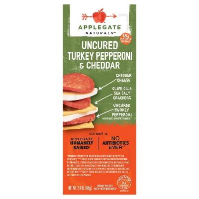 Applegate Natural Uncured Turkey Pepperoni & Cheddar Snack Pack - 2.4oz