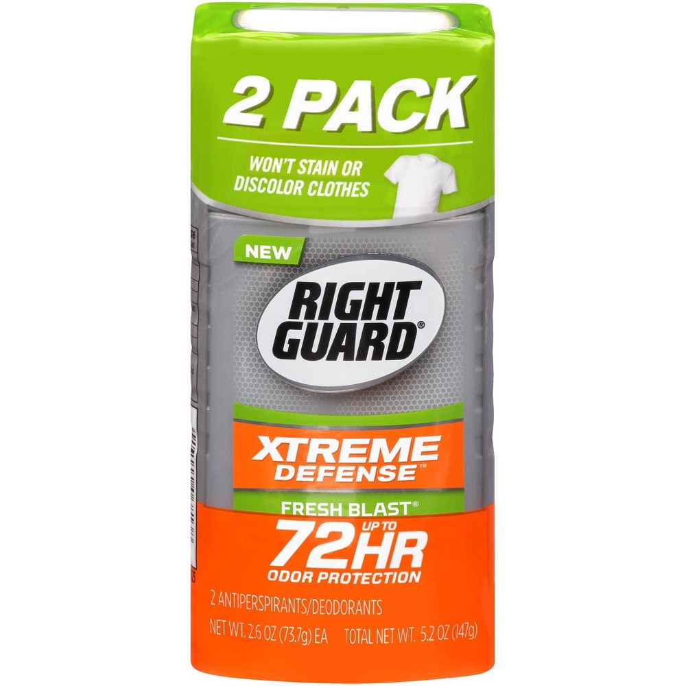 Image of Right Guard Xtreme Antiperspirant Invisible Solid Fresh Blast 2-pk.