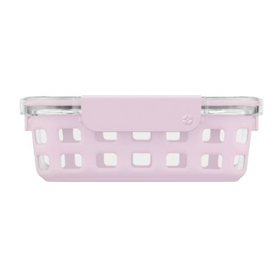 Ello 3.4 Cup Glass Food Storage Container - Pink