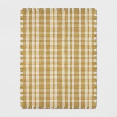9'X12' Plaid Check Rug Golden Yellow - Threshold™