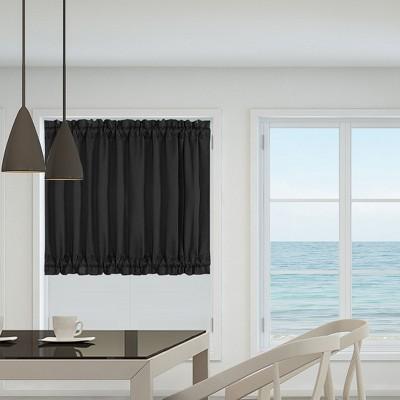 1 Pc Polyester Elegant Rod Sliding Door Darkening Drapes Curtain Panels - PiccoCasa