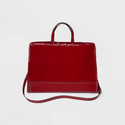 Shine Tote Handbag   Who What Wear Red by Who What Wear Red