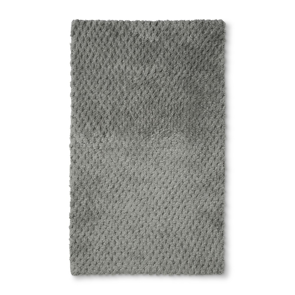 "Image of ""34""""x20"""" Tufted Accent Bath Rug Gray - Fieldcrest"""