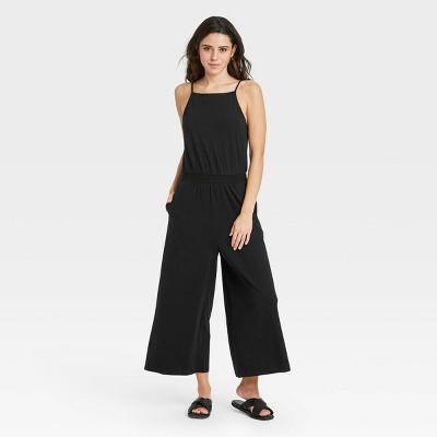 Women's Sleeveless Smocked Waist Jumpsuit - A New Day™