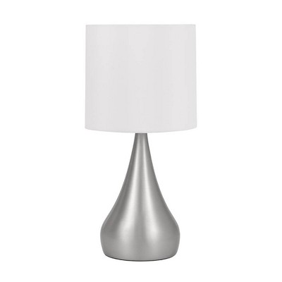 """18"""" Curved Metal Accent Table Lamp Silver - Cresswell Lighting"""