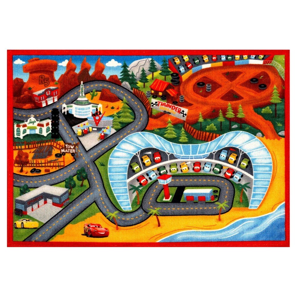 Image of Disney Cars 3 Rug (5'x7'), Multi-Colored