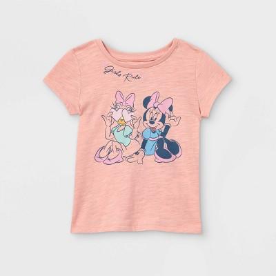 Toddler Girls' Disney Minnie & Daisy Girls Rule Short Sleeve Graphic T-Shirt - Pink - Disney Store