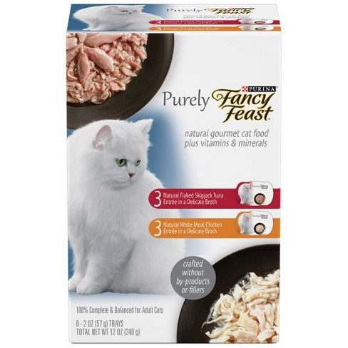 Fancy Feast Purely Variety Pack Wet Cat Food - 6ct - image 1 of 5