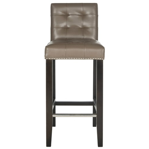 "Cushioned 30"" Barstool Hardwood/Clay - Safavieh - image 1 of 4"