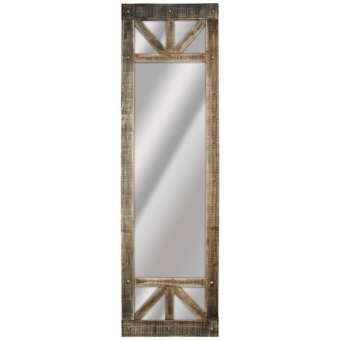 Wood Leaner Mirror Brown - E2 Concepts - image 1 of 4