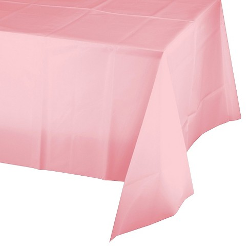 Classic Pink Disposable Tablecloth Target
