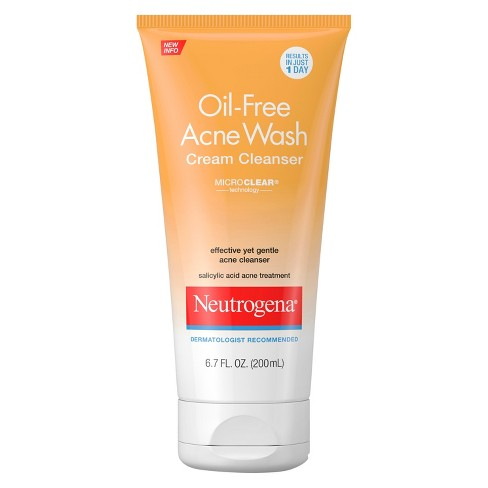 Neutrogena Oil-Free Acne Face Wash Cream Cleanser - 6.7 fl oz - image 1 of 3