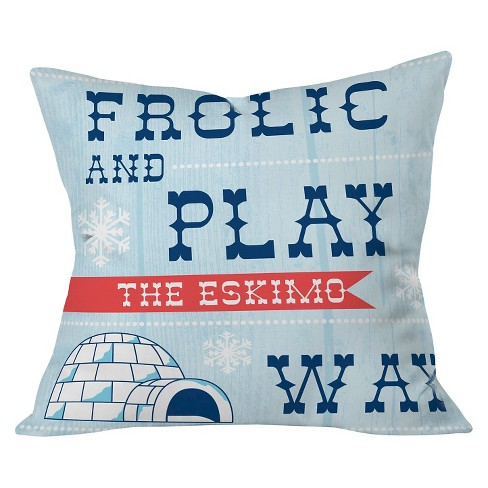 """20""""x20"""" Frolic and Play Throw Pillow Air Blue - Deny Designs - image 1 of 2"""
