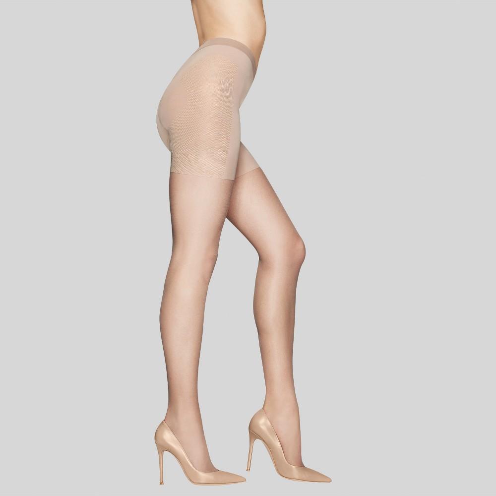 Hanes Premium Women's Silky Sheer Control Top Pantyhose - Nude M