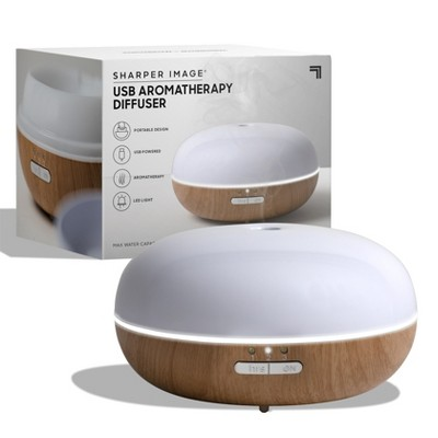 SHARPER IMAGE Diffuser Ultrasonic Aromatherapy Dome LED 100mL Dark Base
