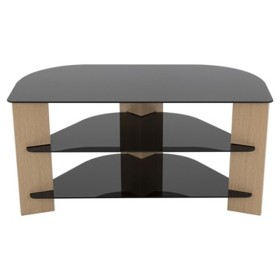 TV Stand with Cable Management - 42 -Oak & Black - AVF
