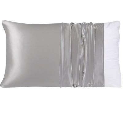 1 Pc Queen 100% Natural Pure Silk Pillowcase Grey - PiccoCasa