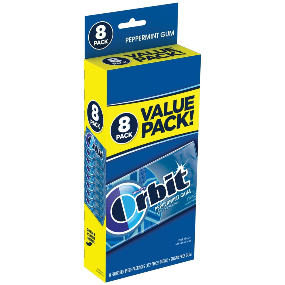 Orbit Peppermint Sugarfree Gum Value Pack - 112ct