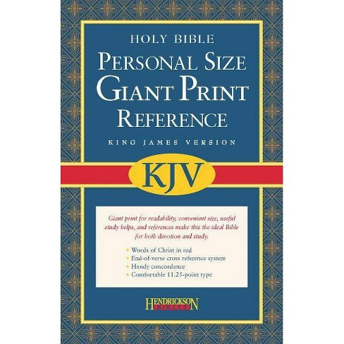 Personal Size Giant Print Reference Bible-KJV - (Leather_bound) - image 1 of 1