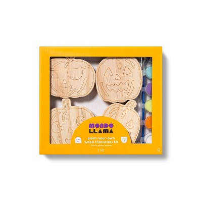 4pk Paint Your Own Wood Pumpkin Patch Kit - Mondo Llama™