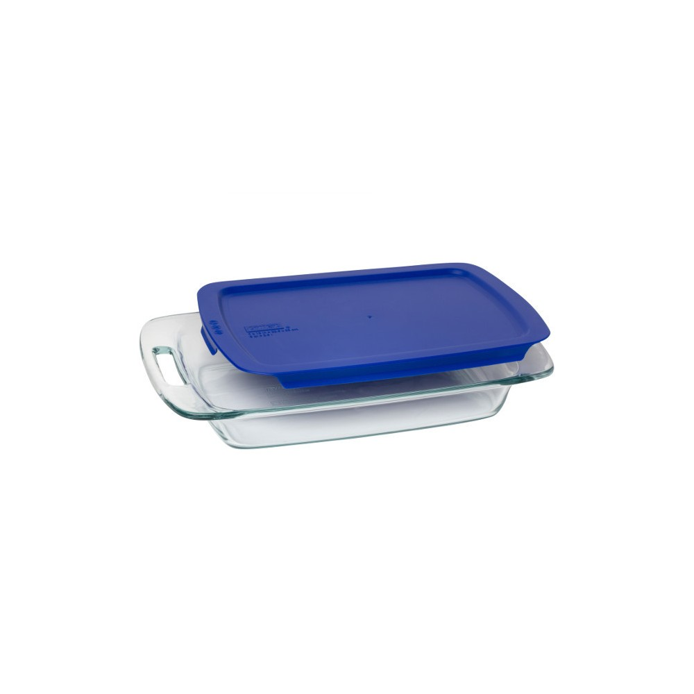 Pyrex 3qt Easy Grab Baking Pan with Lid, Blue