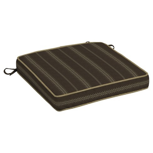 Trevor Stripe Espresso Seat Cushion - Bombay® Outdoors - image 1 of 1