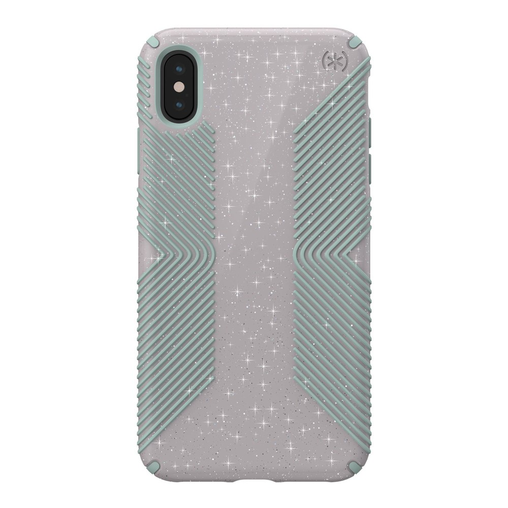 Speck Apple iPhone XS Max Presidio Grip + Glitter Case -Whitestone Gray (with Blue Glitter) was $39.99 now $19.99 (50.0% off)