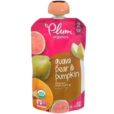 Plum Organics Guava Pear & Pumpkin Baby Food Pouch - 3.5oz