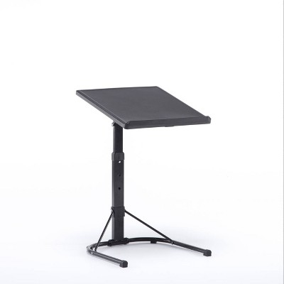 Plastic Dev Group Multi-Functional Adjustable C Table Black