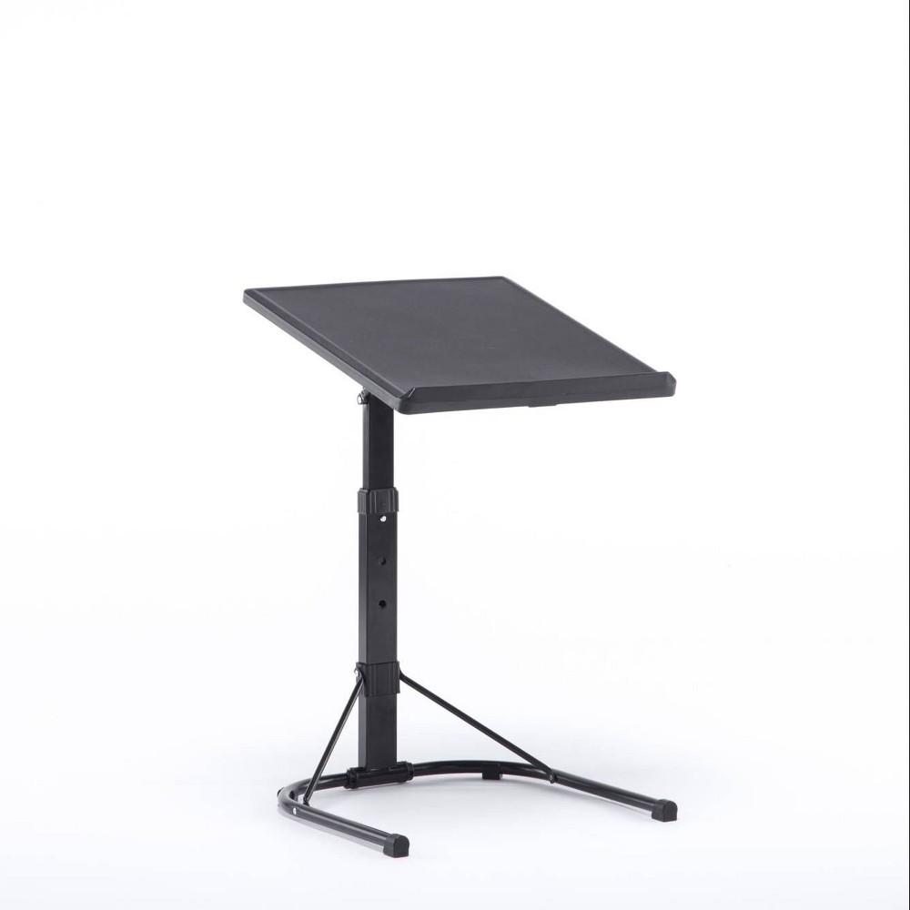 Plastic Dev Group Multi-Functional Adjustable C Table Black