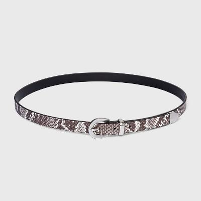 Women's Skinny Snake Print Western Belt - Universal Thread™