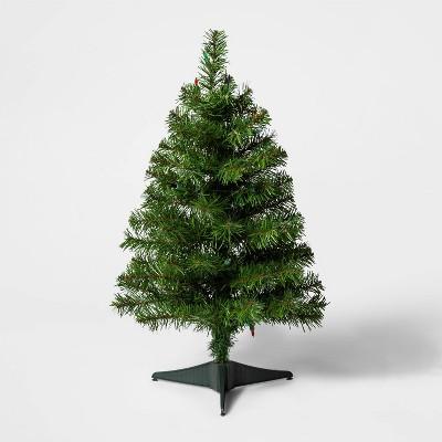 2ft Pre-Lit Alberta Spruce Multicolored Lights Artificial Christmas Tree - Wondershop™