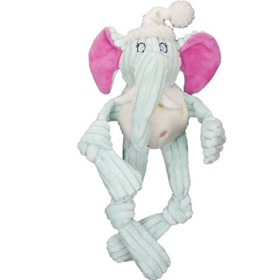 HuggleHounds HuggleHappy Birthday Long and Lankie Party Elephant Durable Toy for Dogs