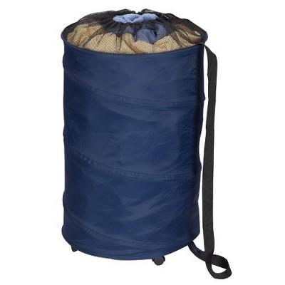 Household Essentials Rolling PopUp HamperStorage Can Blue