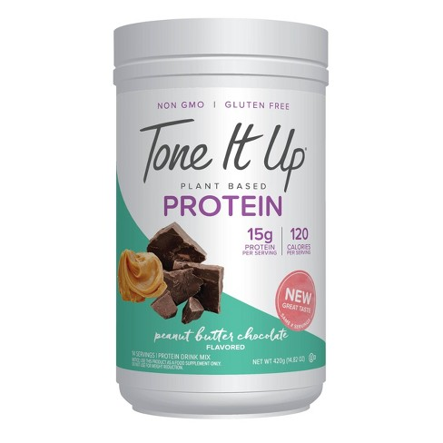 Tone It Up Plant Based Protein Powder - Peanut Butter Chocolate - 13oz - image 1 of 4