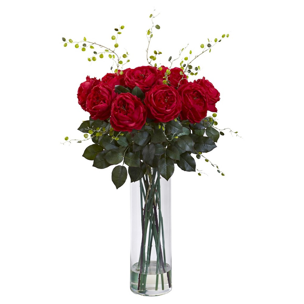 Image of 10.5 X 10.5 X 40 Inch Red Artificial Arrangement