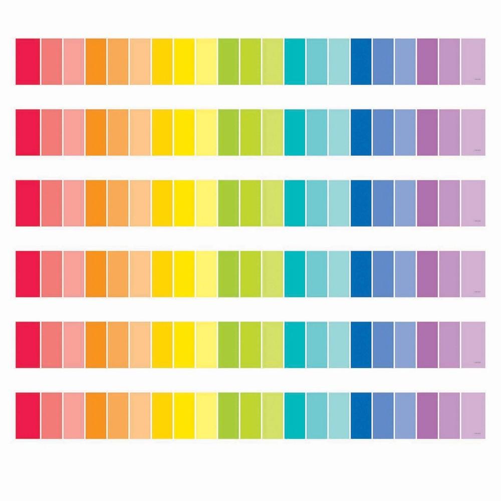 6pk 35ft Paint Chip Classroom Borders Rainbow Creative Teaching Press