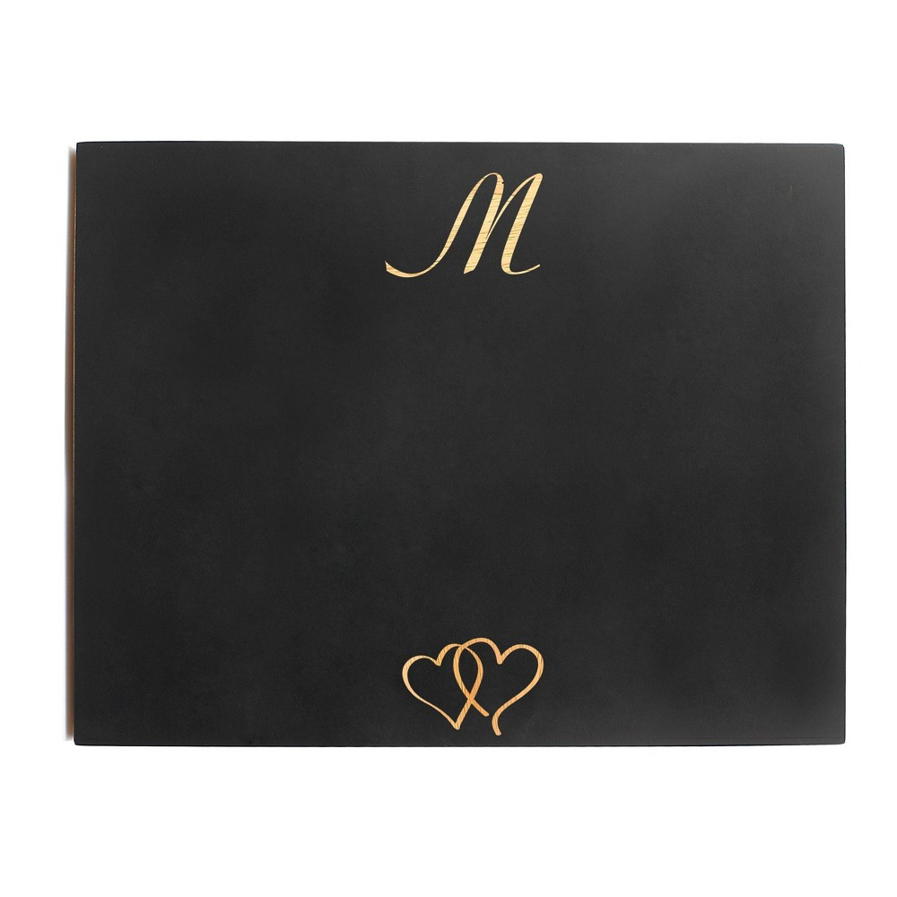 Monogram Wedding Chalkboard Sign - M