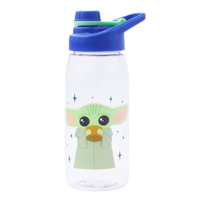 Star Wars: The Mandalorian 20oz Plastic Baby Yoda Tritan Water Bottle with Stickers