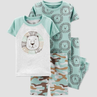 Baby Boys' 4pc Lion Pajama Set - Just One You® made by carter's Green 18M