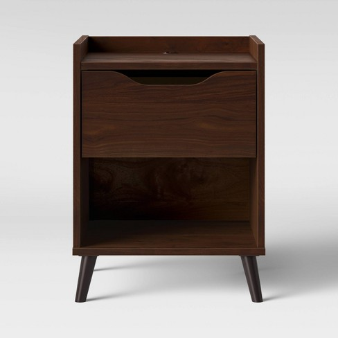 Modern Gallery Nightstand Walnut Brown - Room Essentials™ - image 1 of 4