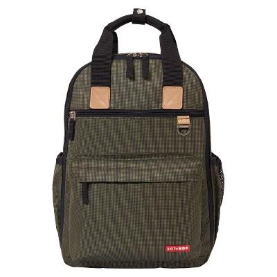 Skip Hop Duo Diaper Backpack - Olive
