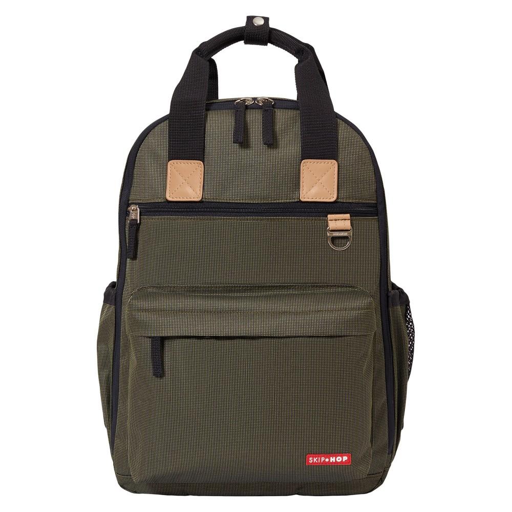 Skip Hop Duo Diaper Backpack - Olive (Green)
