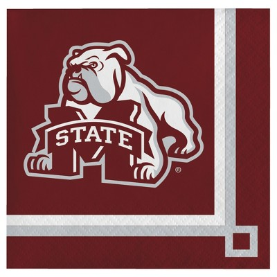 20ct Mississippi State Bulldogs University Cocktail Beverage Napkins - NCAA