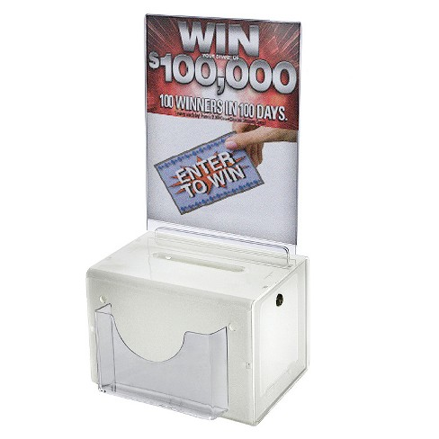 Azar® Large Suggestion Box with Lock White - image 1 of 1